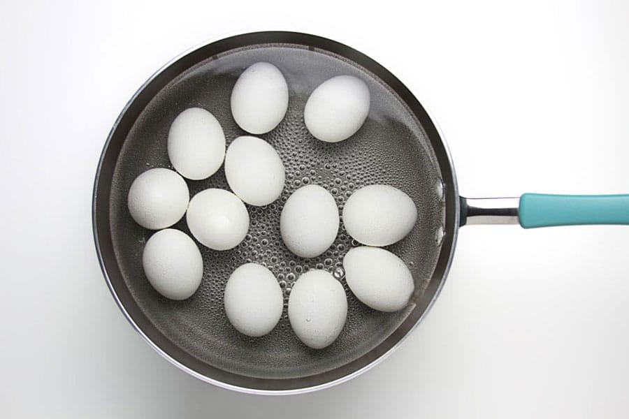 جوشاندن تخم مرغ