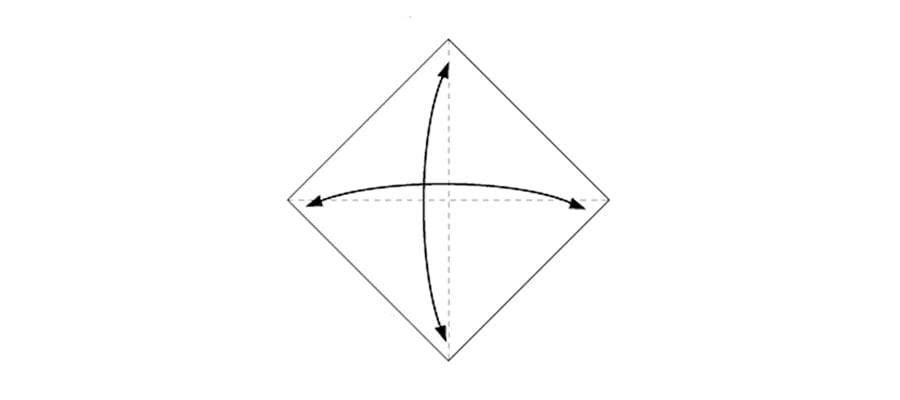 اوریگامی قلب کاغذی ، آموزش تصویری ساخت قلب کاغذی