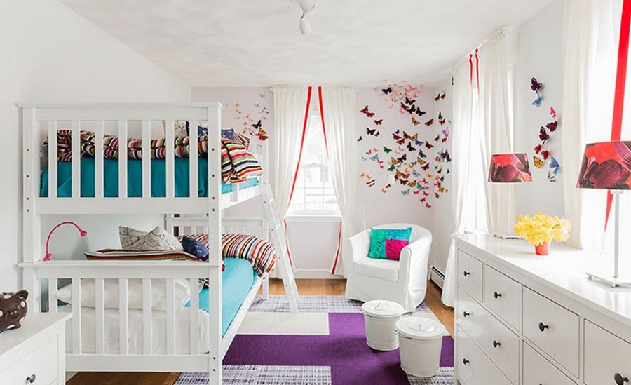 اتاق خواب دختر ساده و شیک