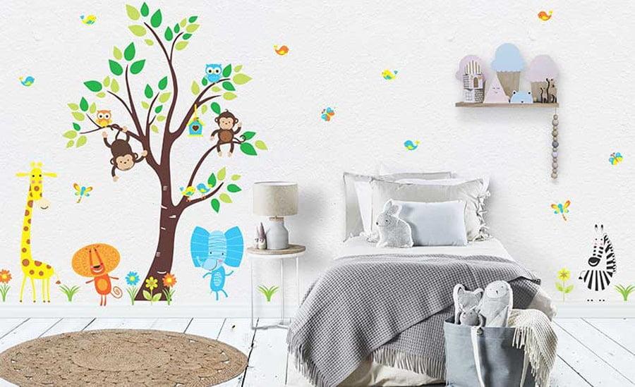 کاغذ دیواری طبیعت برای اتاق بچه