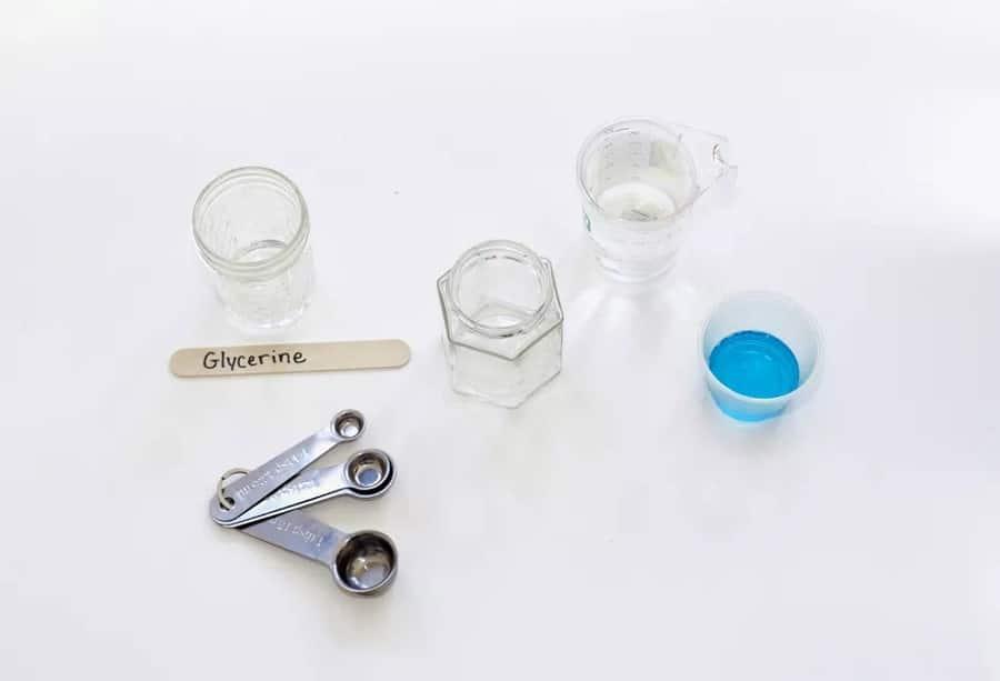 مواد مورد نیاز برای تهیه مایع حباب ساز