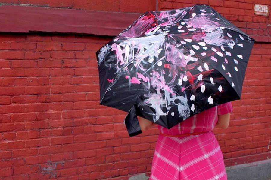 چتر رنگی درست کنید