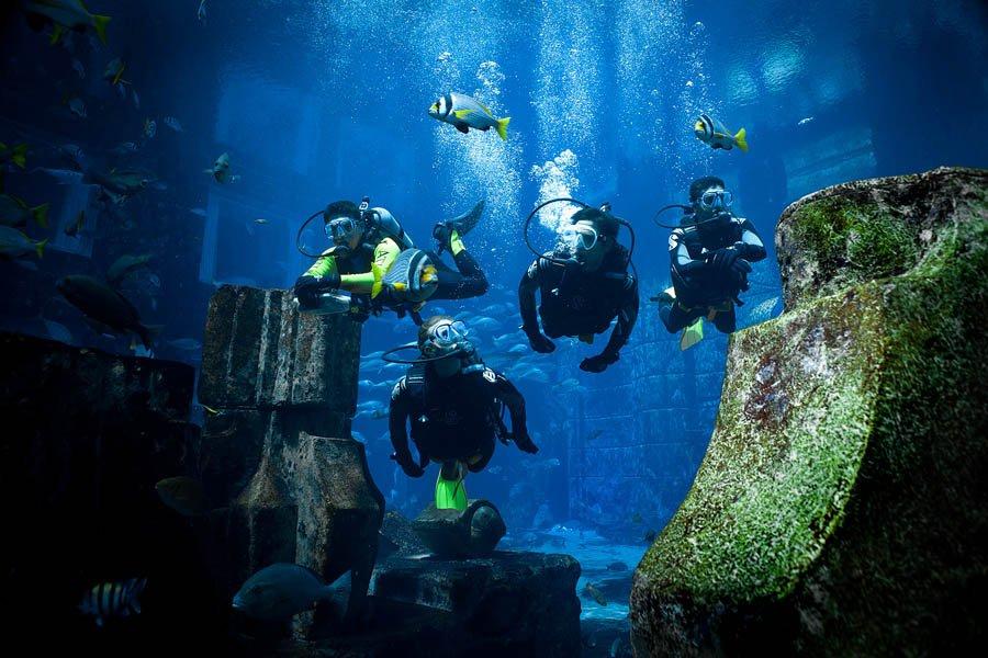 تماشای آب های خوش رنگ