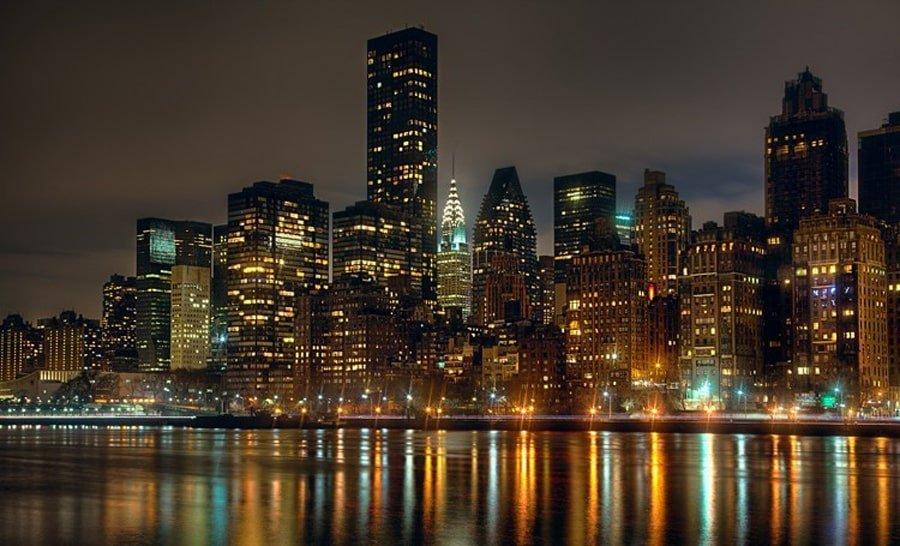 منظره آسمان خراش های شهر