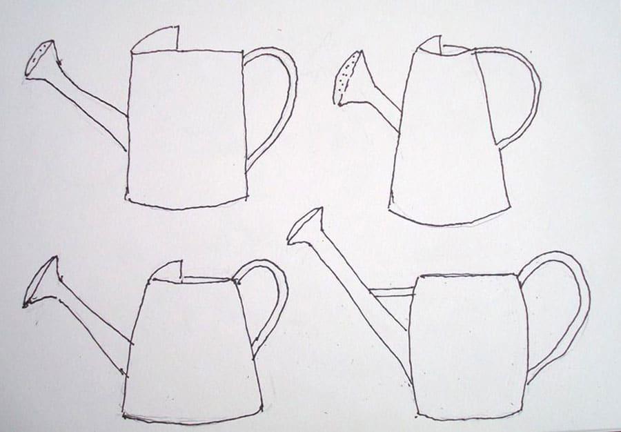 طرح اولیه نقاشی آبرنگ