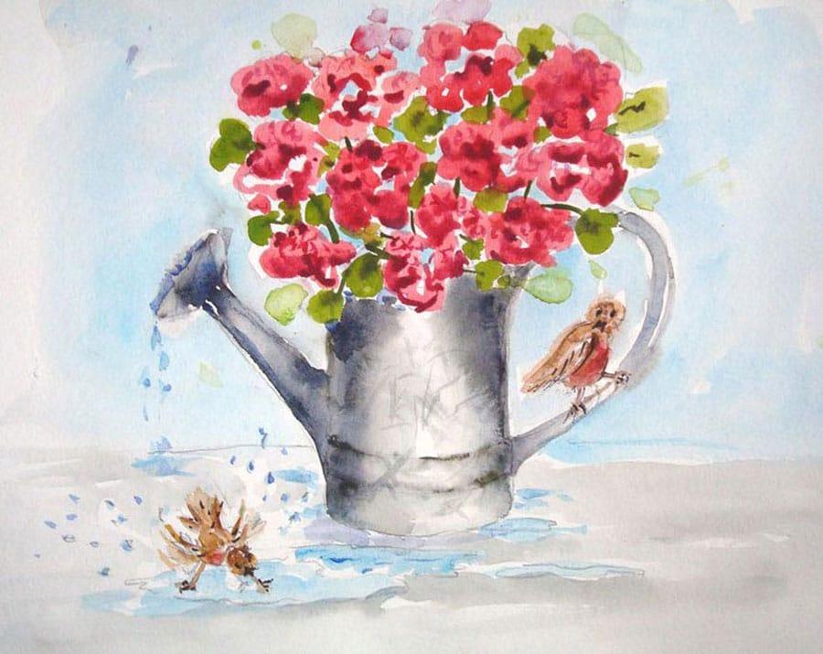 رنگ آمیزی نقاشی آبرنگ