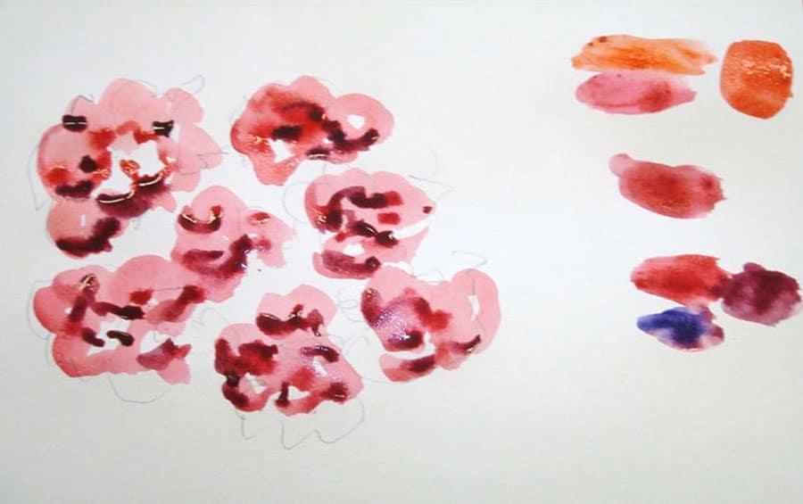 انتخاب رنگ های نقاشی آبرنگ