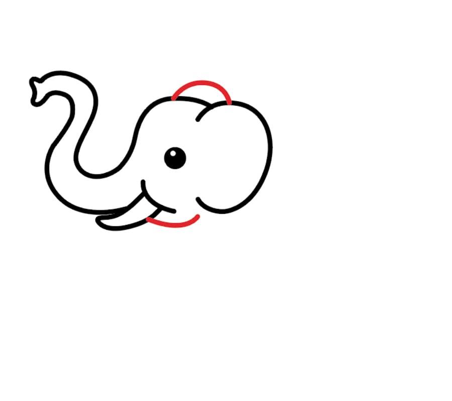 نقاشی فیل برای کودکان