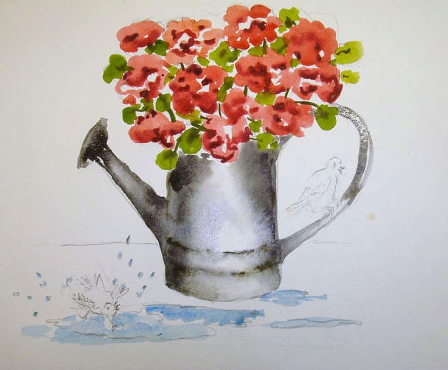 مرحله کشیدن گل ها