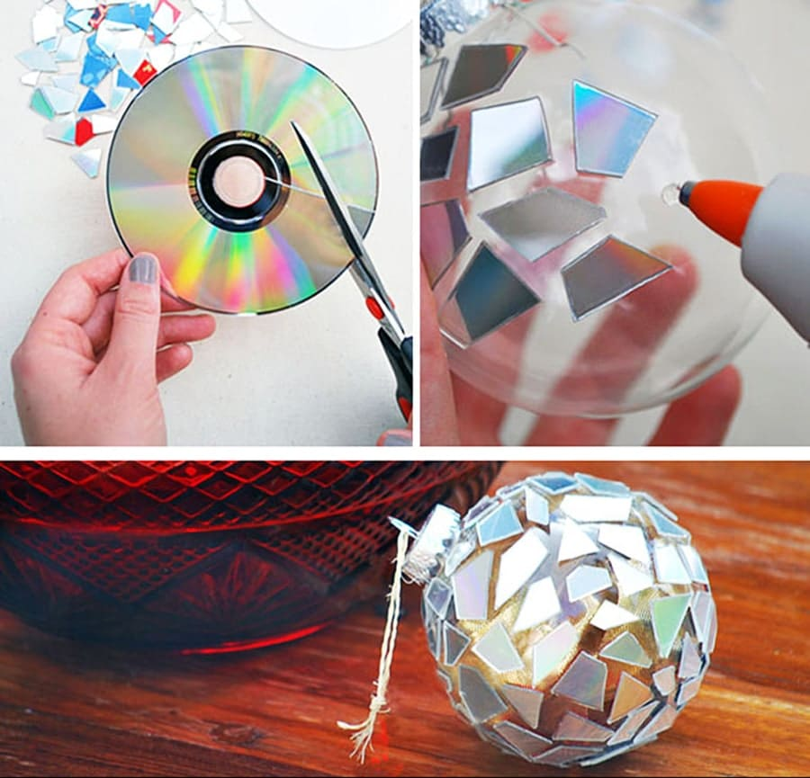 روش بریدن سی دی برای کارهای تزیینی و چند ایده برای ساخت وسایل تزیینی با تکه های سی دی