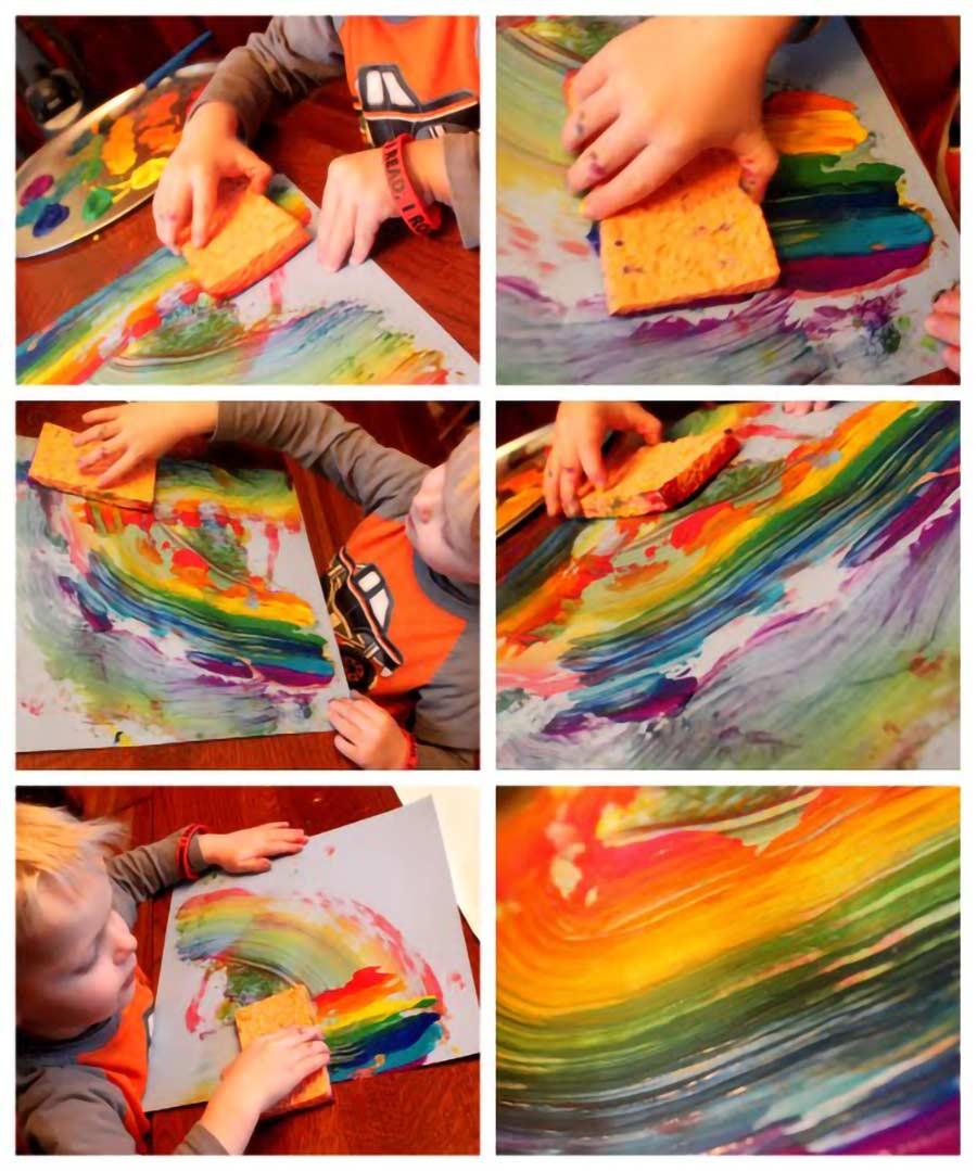 کشیدن رنگین کمان
