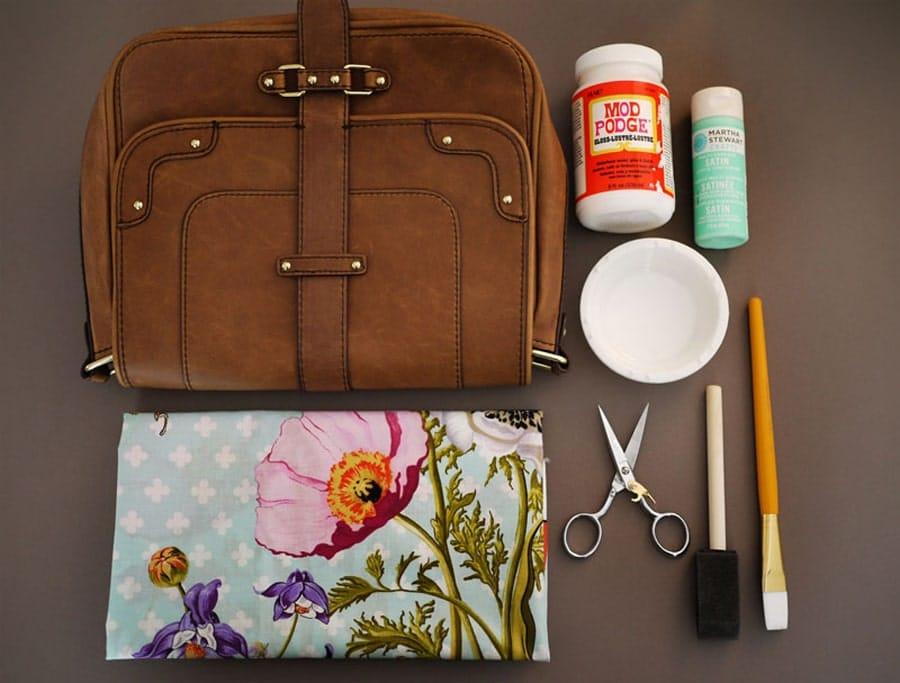 دکوپاژ روی کیف رو یاد بگیر و کیف های قدیمی خودتو دوباره قابل استفاده کن!