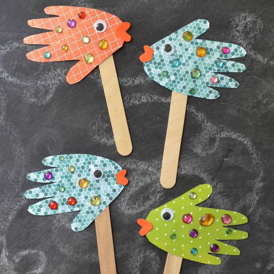 آموزش ساخت کاردستی های کودکانه با چوب بستنی