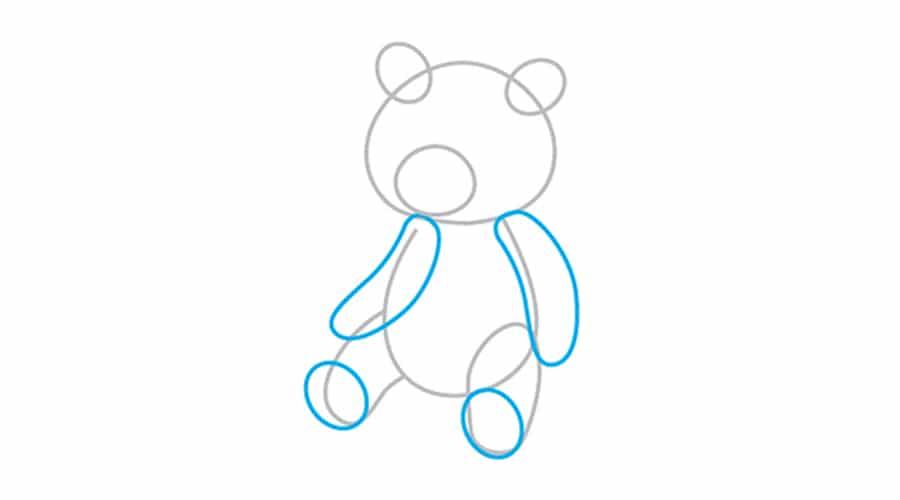 کشیدن دست و پاهای خرس