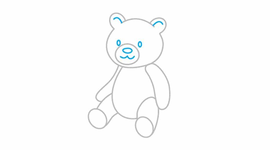 طراحی اجزای صورت خرس