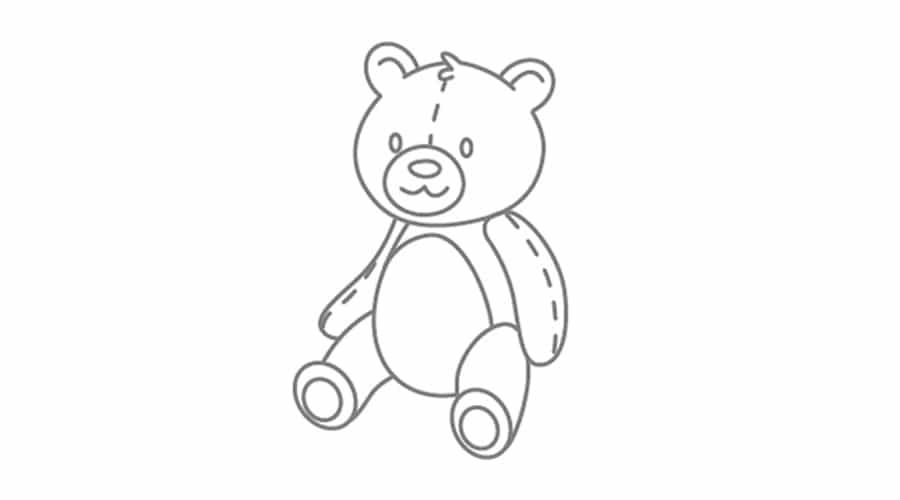 آموزش نقاشی خرس تدی برای کودکان