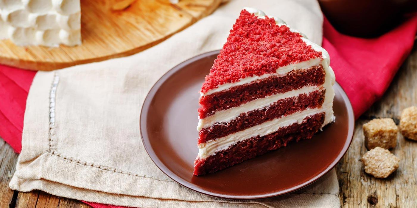 طرز تهیه کیک ردولوت (مخمل قرمز) مرحله به مرحله | کاغذ رنگی