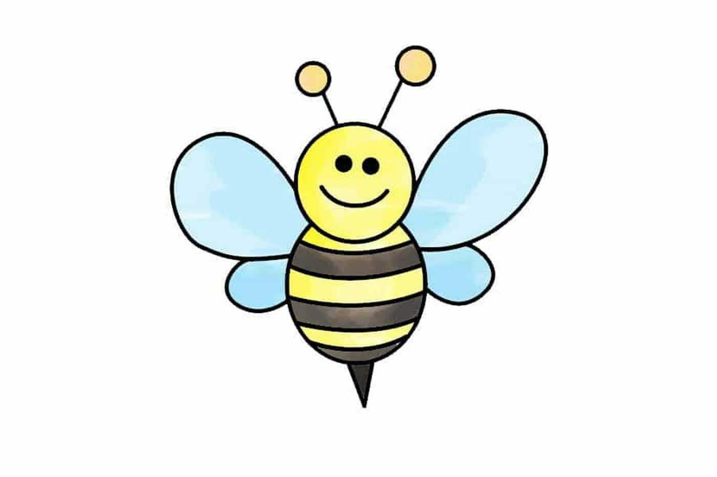 آموزش نقاشی زنبور عسل کودکانه
