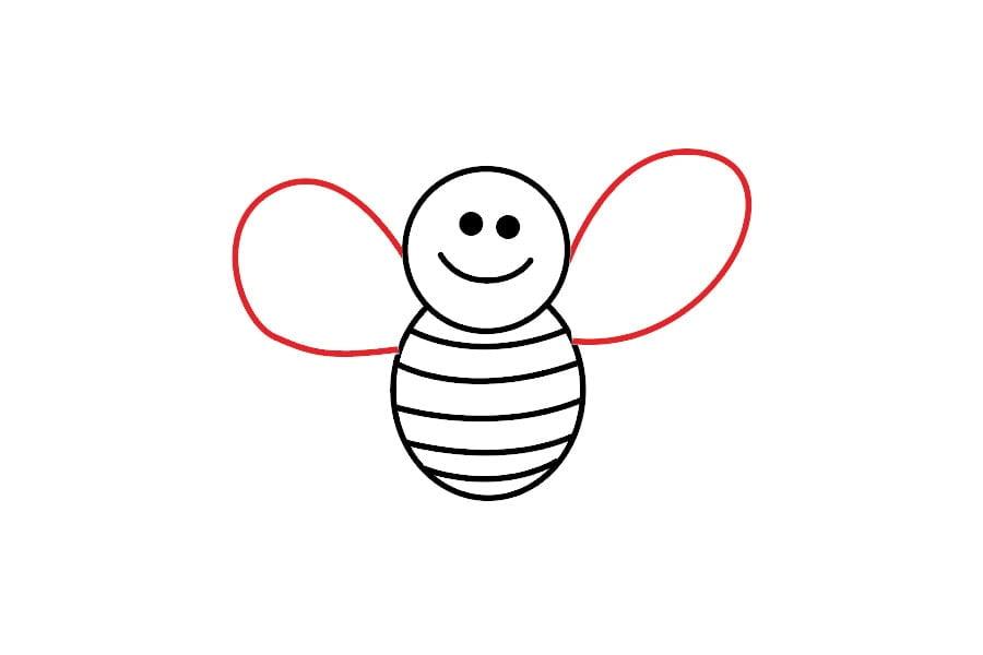 آموزش نقاشی زنبور برای کودکان
