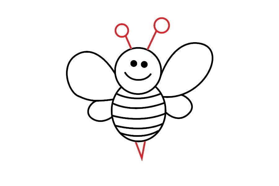 آموزش نقاشی زنبور