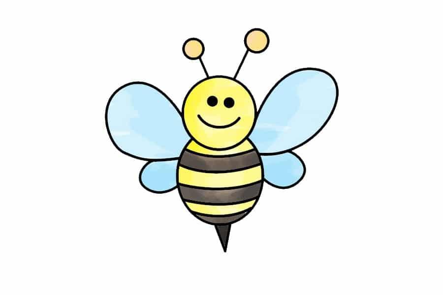 آموزش نقاشی زنبورعسل برای کودکان