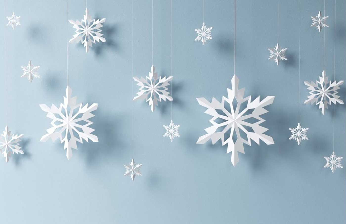 ساخت دانه برف کاغذی
