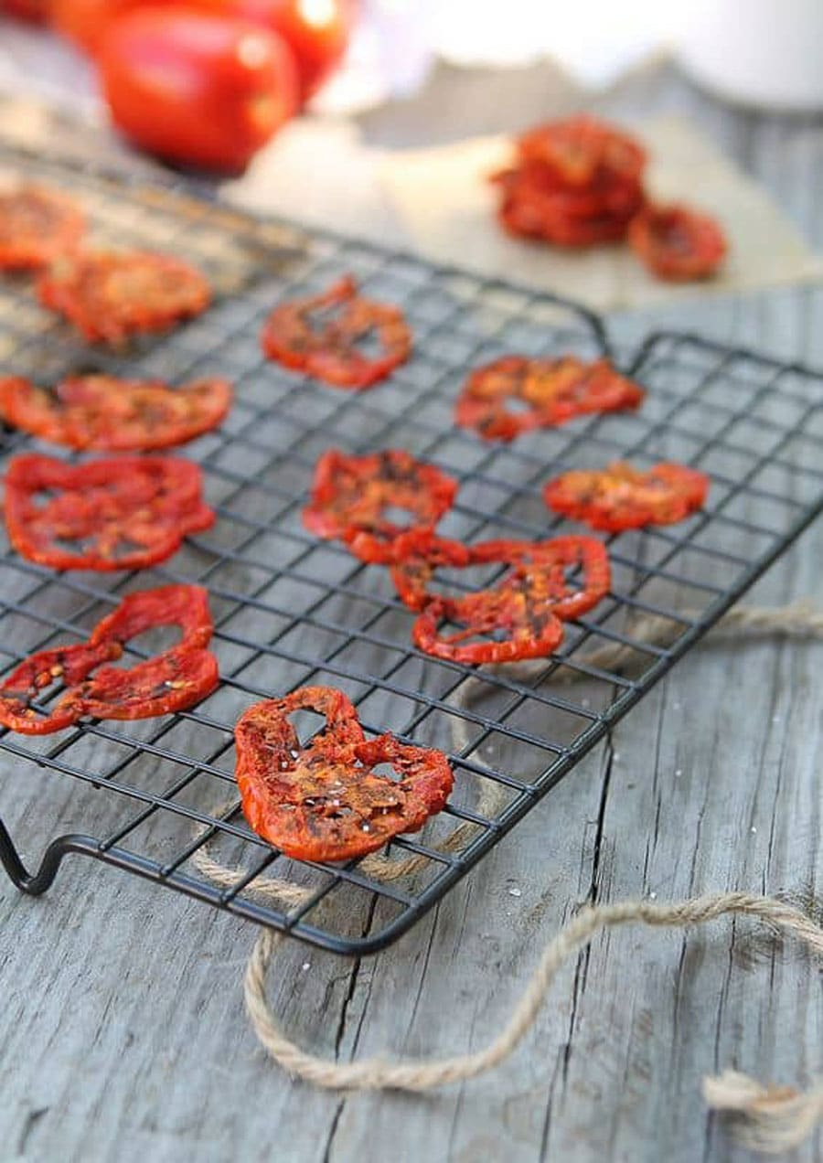 طرز تهیه چیپس گوجه فرنگی