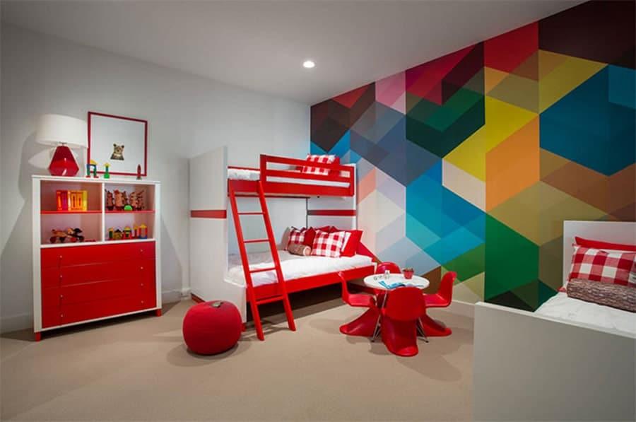 رنگ آمیزی طرح هندسی برای ایده رنگ دیوار