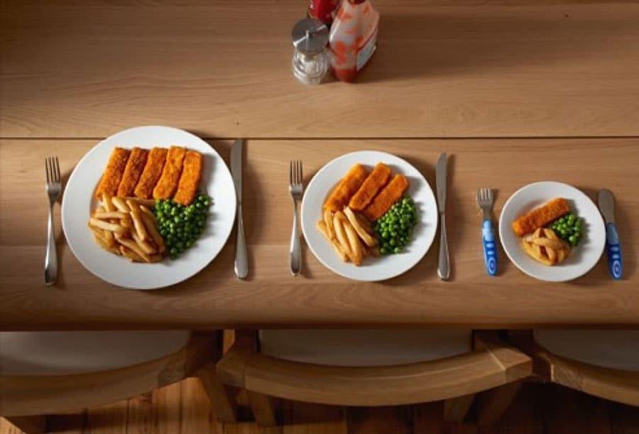 غذا کم با تعداد زیاد