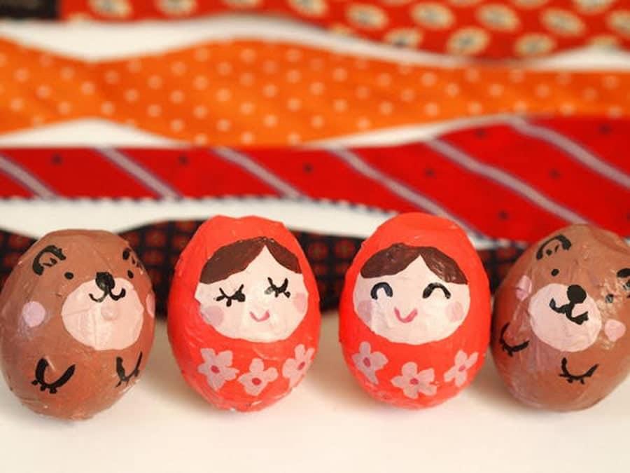 کاردستی با پوست تخم مرغ و ساخت عروسک