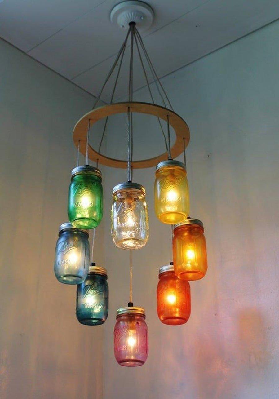 خلاقیت و کاردستی با شیشه دور ریختنی