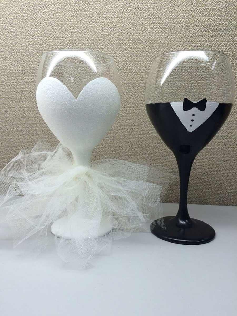 تزیین جام عروس و داماد