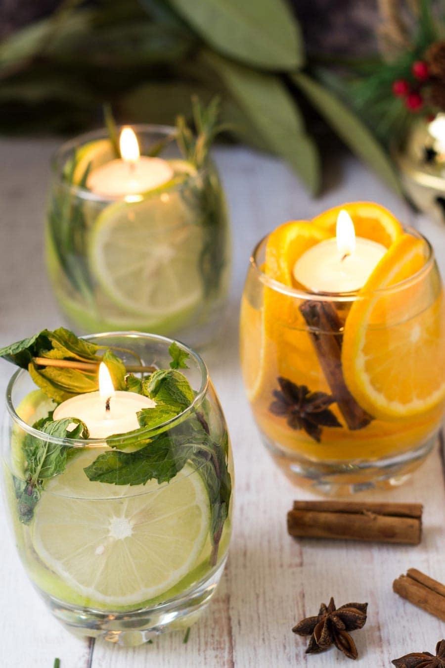 آموزش تزیین لیوان با شمع