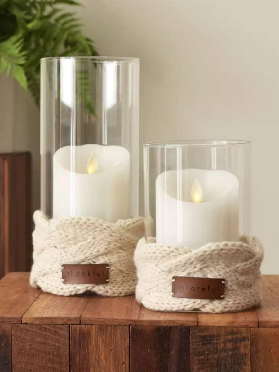 تزیین لیوان با شمع