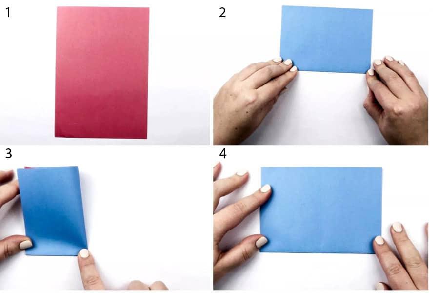 ساخت اوریگامی. تا زدن کاغذ