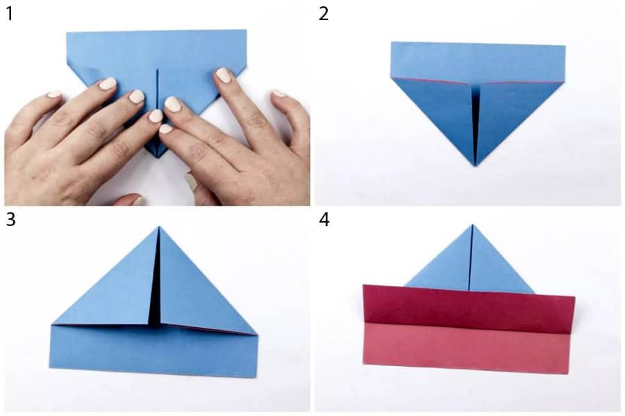 ساخت اوریگامی قایق با آموزش تصویری