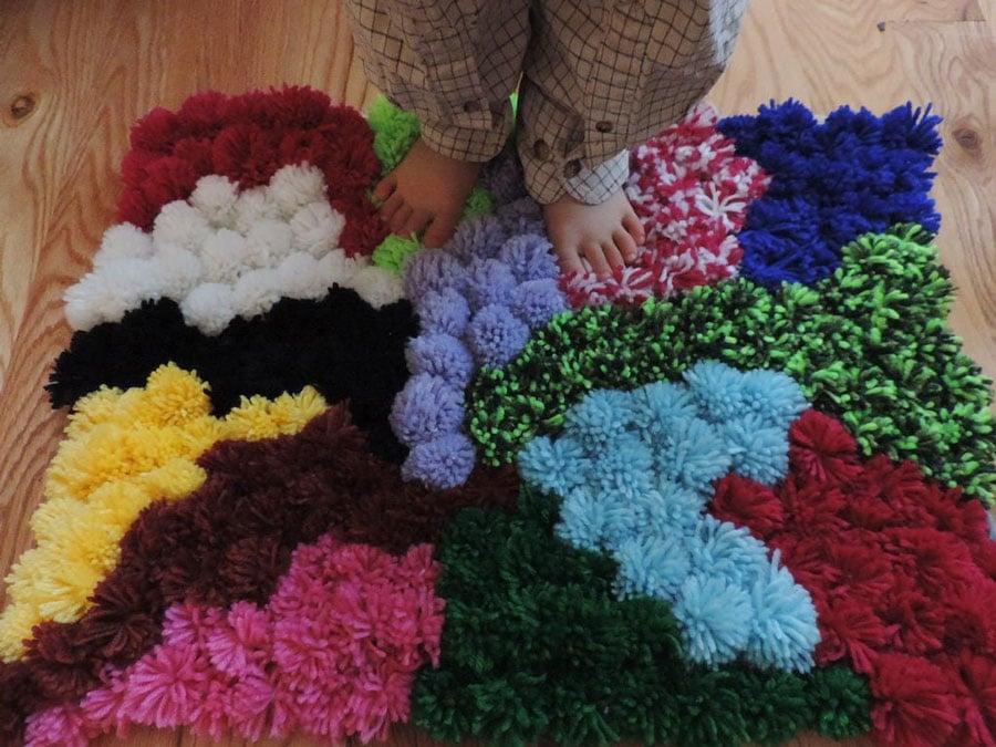 ساخت فرش رنگی رنگی