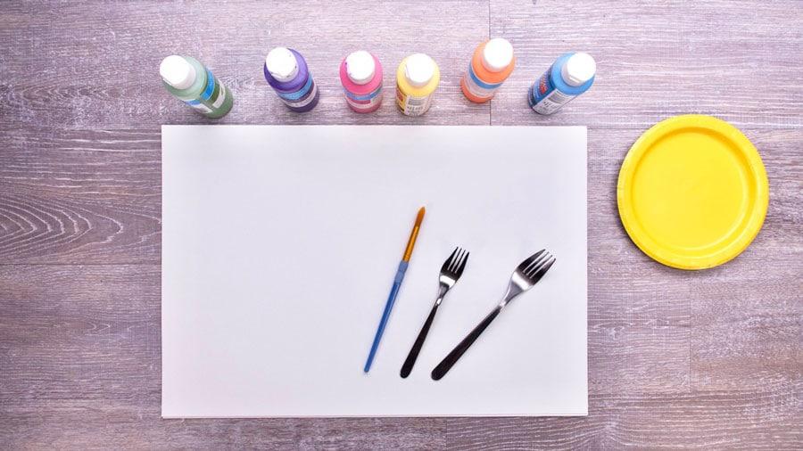 روش نقاشی با چنگال