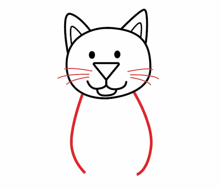 نقاشی گربه در هفت مرحله