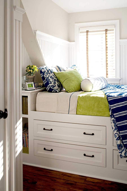 تخت خواب کشویی با فضای ذخیره سازی