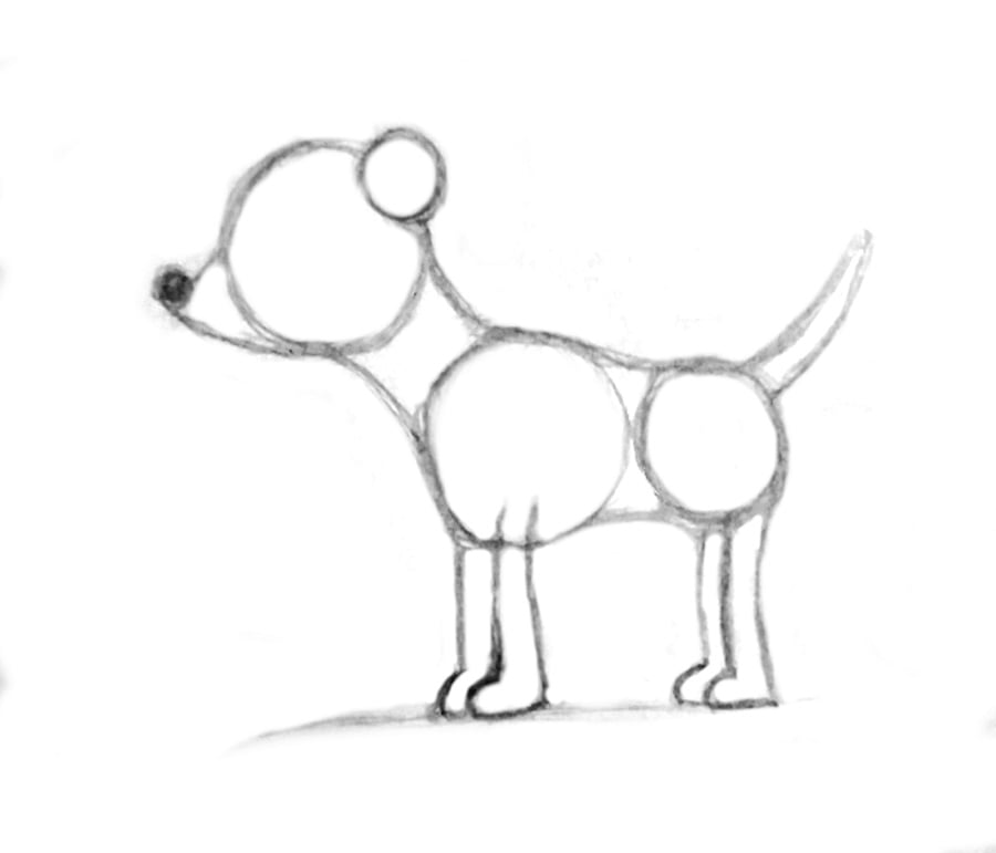 چگونه نقاشی سگ بکشیم