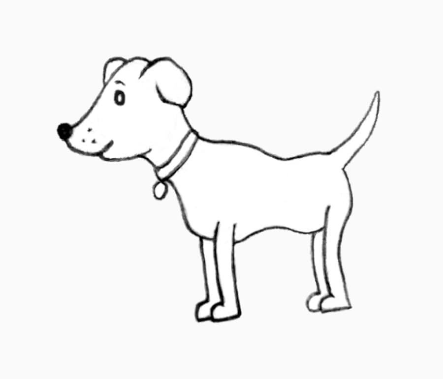 آموزش آسان کشیدن طرح سگ