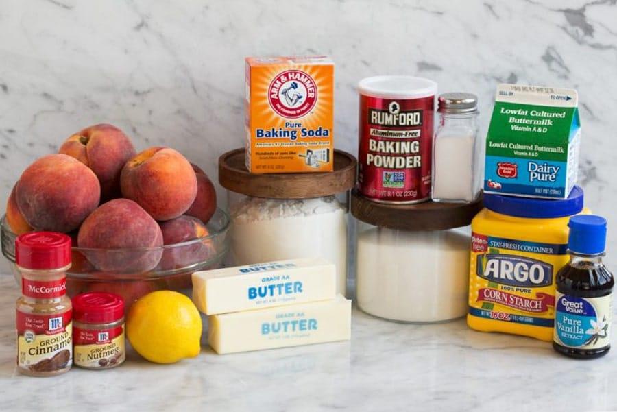 مواد مورد نیاز شیرینی هلویی