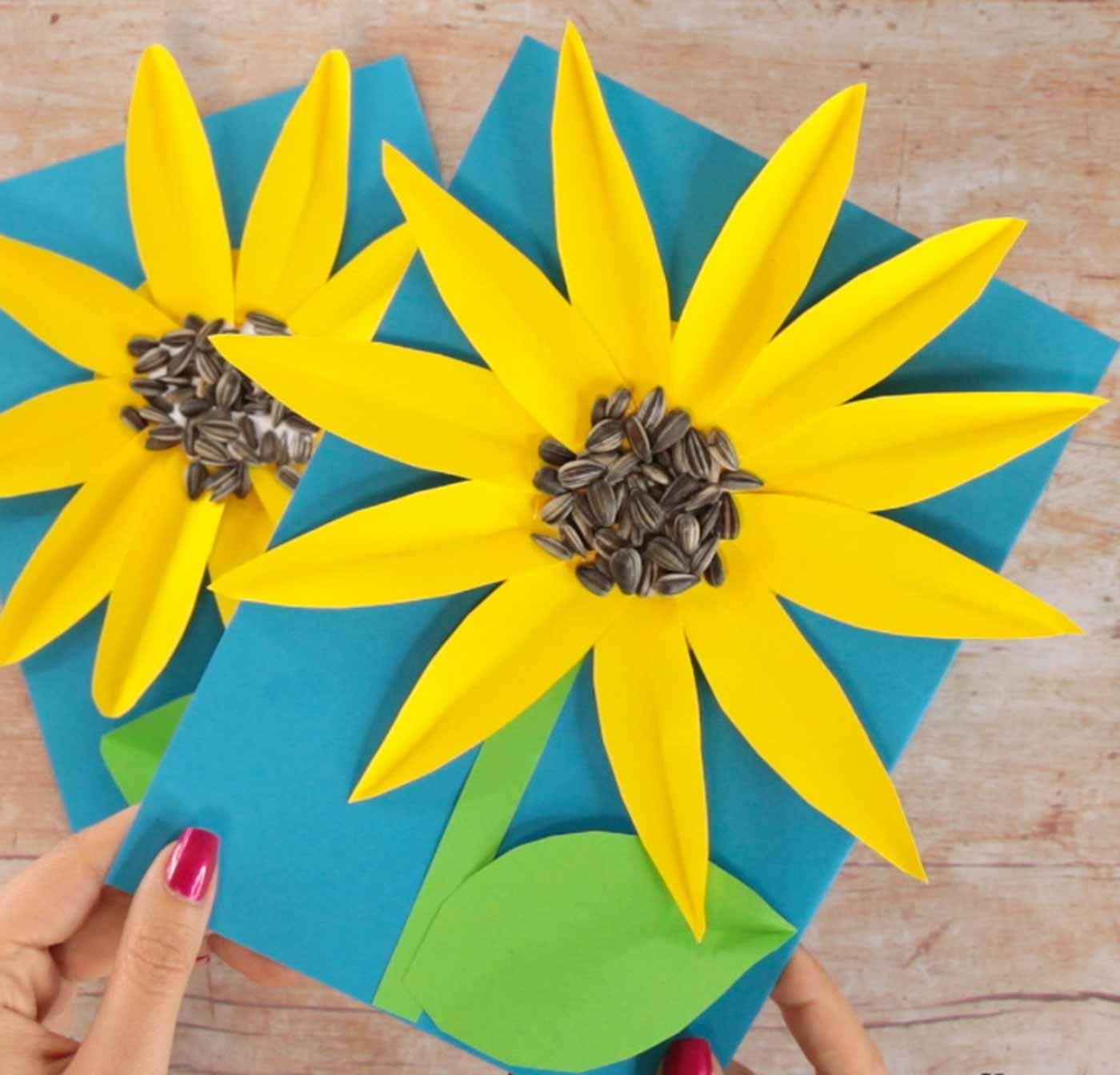 ساخت کاردستی گل آفتاب گردان