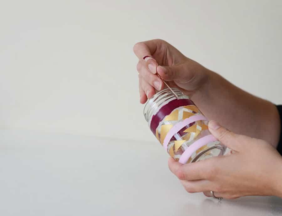 آموزش ویترای روی شیشه مربا