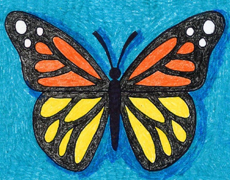 رنگ آمیزی نقاشی پروانه