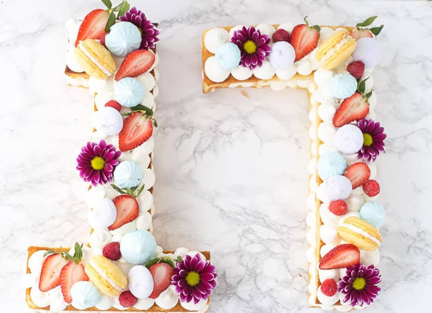 طرز تهیه کیک شماره ای