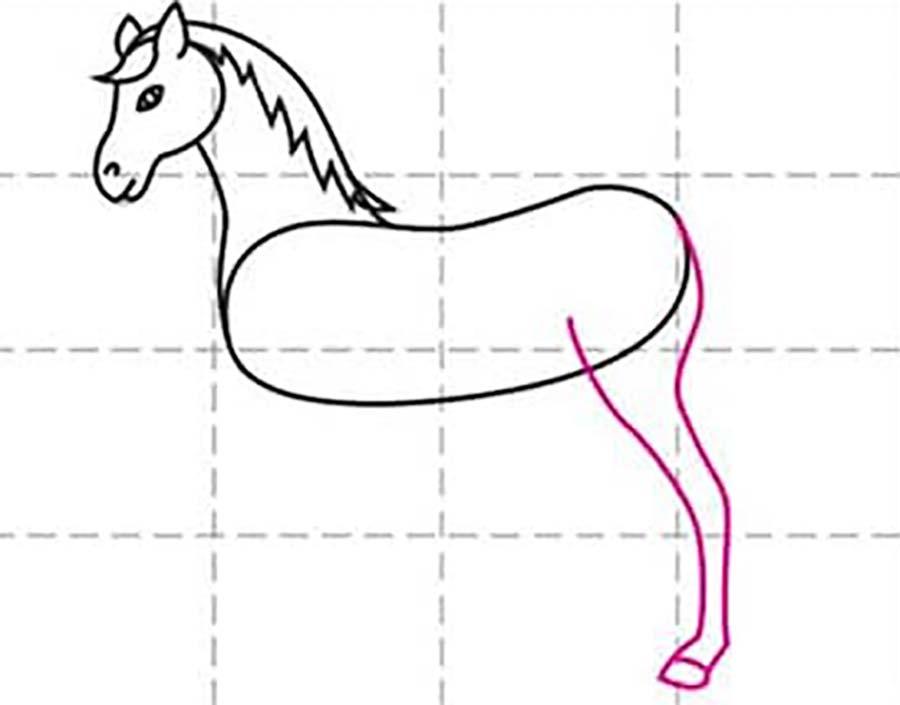 طراحی پای عقب اسب