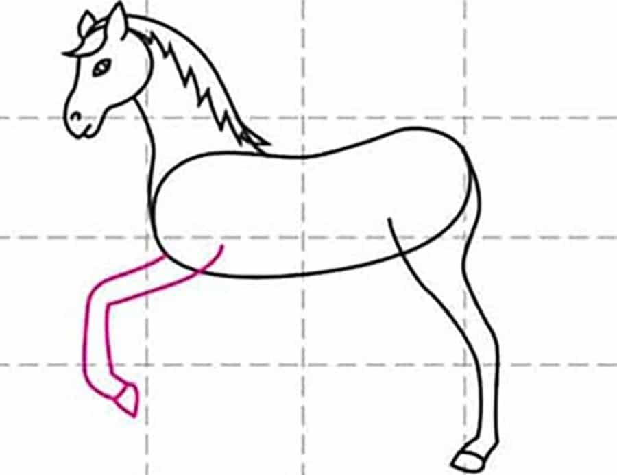 کشیدن دست اسب