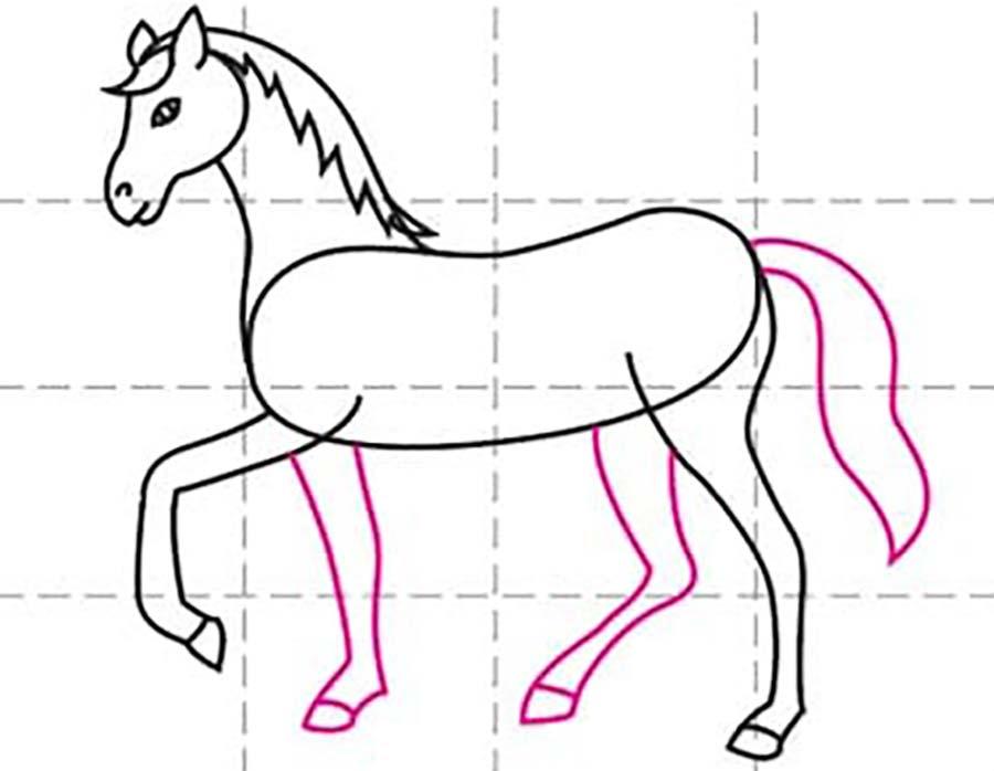 کشیدن دست و پا اسب